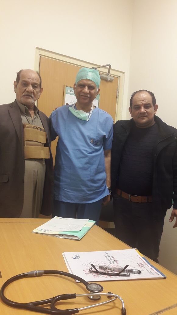 Dr. S.K Sinha has done CABG to a patient from Iraq